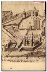 Old Postcard Vue du chateau d & # 39Alencon before its demolition