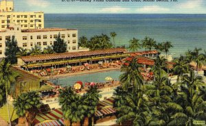 Florida Miami Beach Roney Plaza Cabana Sun Club Curteich