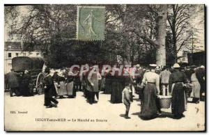 Old Postcard Isigny sur Mer Le Marche Butter TOP