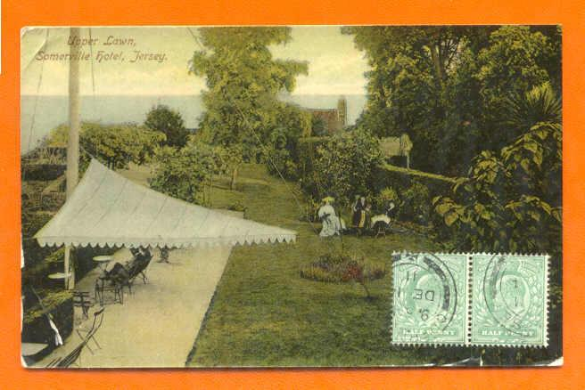PC & STAMPS TCV UK SOMERVILLE HOTEL JERSEY UPPER LAWN