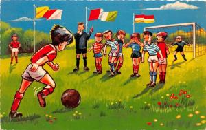C99/ Sports Postcard Soccer Football Futball Comic 1966 Netherlands Kids Goal 7