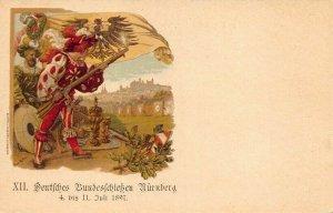 1897 Nurnberg Germany Deutsches Bundes Fc Blieben Turnberg Postal Card