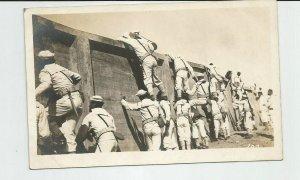 Photo POSTCARD ~ Sailors Drills Climbing ~US Navy ~  Fleet ~ Circa 1908 ~ 102
