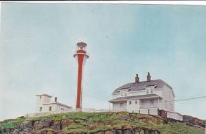 Lighthouse , Cape Forchu , Yarmouth , Nova Scotia , Canada , 1950s-60s