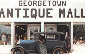 A56/ Georgetown Kentucky Ky Postcard Antique Mall Automobile Chrome