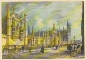 England Cambridge King's College From King's Parade 1977