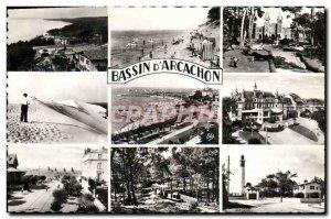 Postcard Modern Basin & # 39Arcachon The Corniche Beach Abatilles Notre Dame ...