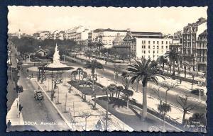 Avenida da Libertad Lisbon Portugal RPPC unused c1920's