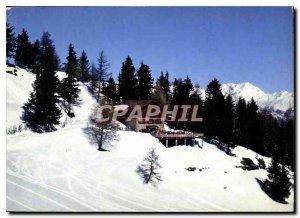 Postcard Modern Thyon cabin C. A. S. Season Summer and Winter
