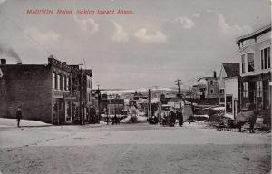 Madison Maine Anson Street Scene Historic Bldgs Antique Postcard K36781