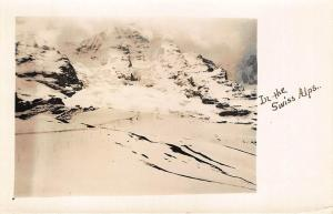 View Switzerland In The Swiss Alps On CYKO Real Photo Paper RPPC Postcard