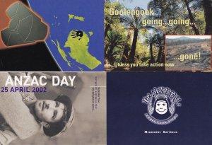 Sydney Greenpeace Anti Nuclear Nunnery Anzac Day Australia 4x Postcard