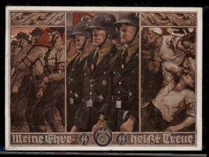 3rd Reich Germany Waffen SS Propaganda Postcard Meine Ehre heisst Treue US 93386