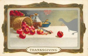 Thanksgiving Day T-51 Henderson Litho Publisher Embossed Postcard