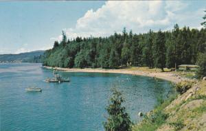Willingdon Beach, Motor Boat, POWELL RIVER, British Columbia, Canada, 40-60's