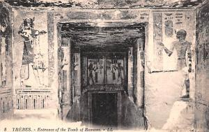 Thebes Egypt, Egypte, Africa Entrance to Tomb of Rameses Thebes Entrance to T...