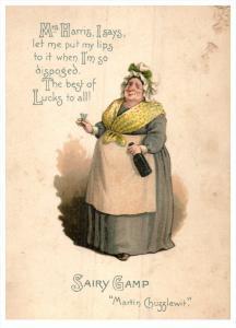 15030    Irish Life   Sairy Gamp  signed Martin Chuzzlewit  late 1800's
