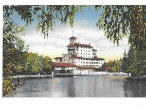 View of Broadmoor Hotel from the Lake Pike's Peak Region Colorado