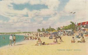 Crowds on Paradise Beach, Nassau, Bahamas, 1940-1960s