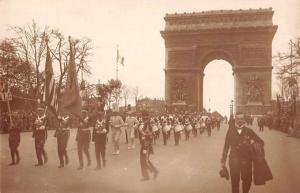 Paris France American Legion Parade Arc de Triomphe Real Photo Postcard J58017