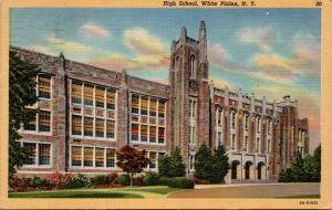 High School White Plains New York 1949 Curteich