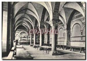 Old Postcard Solesmes Benedictine abbey refectory The Riviera of the fresco