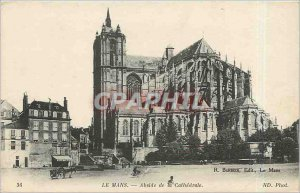 Old Postcard Le Mans Apse of the Cathedral