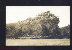 RPPC MAUSTON WISCONSIN STEAMBOAT ROCK A.M BAVER VINTAGE REAL PHOTO POSTCARD