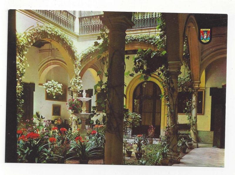 Spain Seville Andalusian Court Garden Patio Postcard 4X6