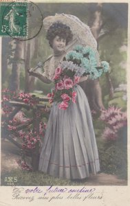 RP: Woman with Flowers , 1907