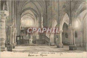 Old Postcard Champeaux Seine et Marne Interior of the Church