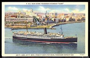 P&O Passenger Steamship Cuba