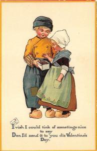 Raphael Tuck To My Valentine Dutch Sweethearts Series # 262 Postcard