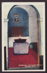 Bapistry,San Gabriel Mission