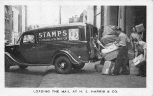 Boston MA H. E. Harris Collectible Stamps Covers Supplies etc. Truck Postcard