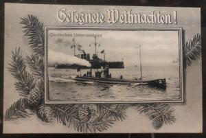 Mint Germany navy RPPC Real Picture Postcard U Boat Submarine At Seas