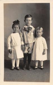 F36/ Jackson Ohio RPPC Postcard c1915 Lesta Harper Floyd Evans Kids 12