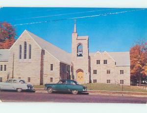 Unused Pre-1980 CHURCH SCENE Niles Michigan MI L3671