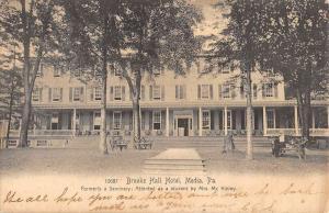 Media Pennsylvania Brooke Hall Hotel Street View Antique Postcard K78972