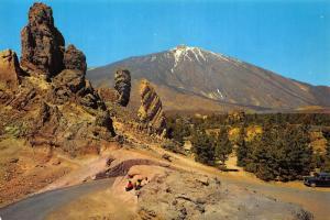 Spain Tenerife View of the Teide Landscape Postcard
