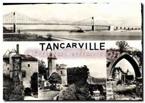 Postcard Modern Tancarville bridge castle