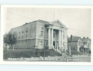 Unused Divided-Back MASONIC TEMPLE SCENE Olympia Washington WA L5095