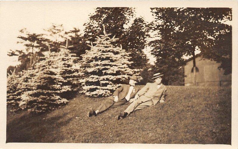 H78/ Washington D.C. RPPC Postcard c1910 Men in Rock Creek Park 181