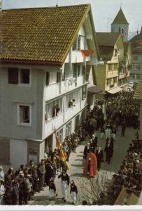 Kantonshauptort Appenzell, Hauptgasse am Landsgemeindetag, unused Postcard
