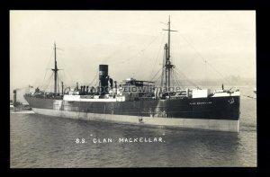 bf222 - Clan Line Cargo Ship - Clan Mackellar , built 1913 - postcard Feilden