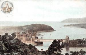 Conway Castle Chateau Panorama Bridge Schloss 1905  railway London North
