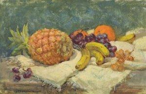 AS: Pineapple & Banana Still Life , 1920-30s