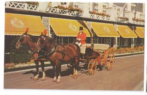 Grand Hotel Mackinac Island Michigan Horse Carriage 1957 Postcard