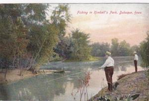 Iowa Dubuque Fishing In Kimball's Park