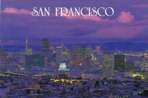 California San Francisco The Beautiful San Francisco Skyline At Dusk After A ...